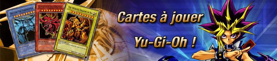 Bannière cartes à jouer Yu Gi Oh !
