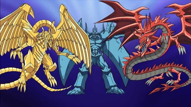 Les trois dieux égyptiens dans Yu-Gi-Oh !